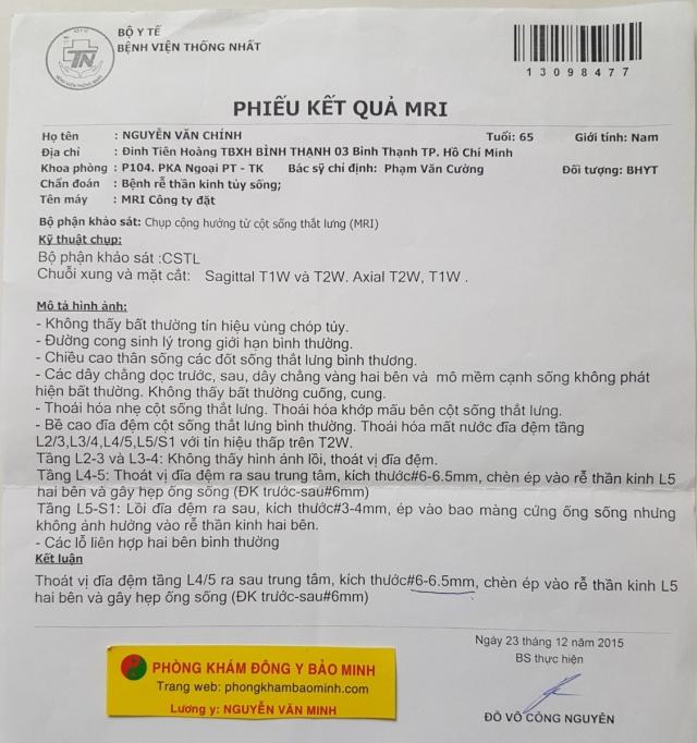 Thoát vị đĩa đệm có chữa được không | Lương y Nguyễn Văn Minh